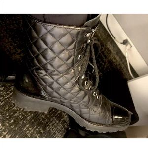 Chanel style Quilted boots